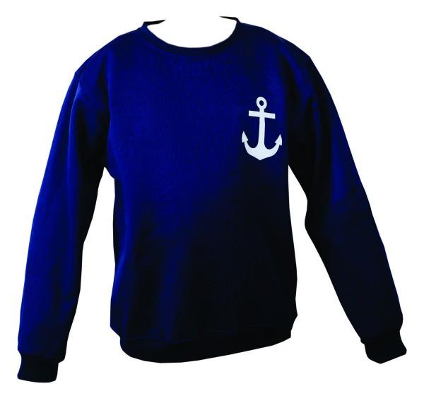 "Sweatshirt ""Anchor"" Maritime Print Ladies Solid Color Sweater"