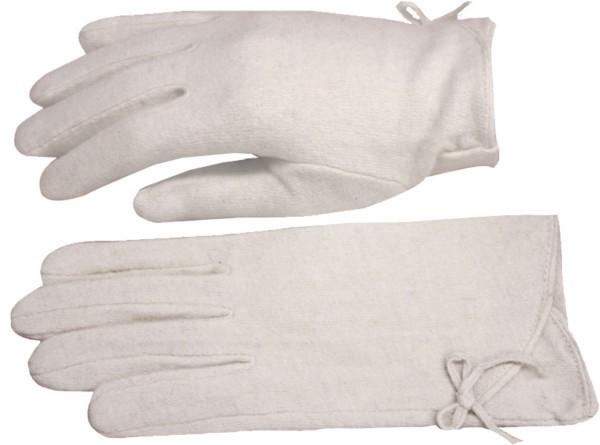 Damen Handschuh Schleife Schmal Wolle Schlicht Winter