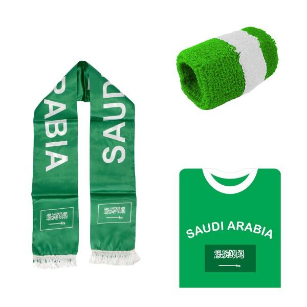 "Fan Package ""Saudi Arabic"" Worldcup Football Scarf Shirt Sweatband SET-7"