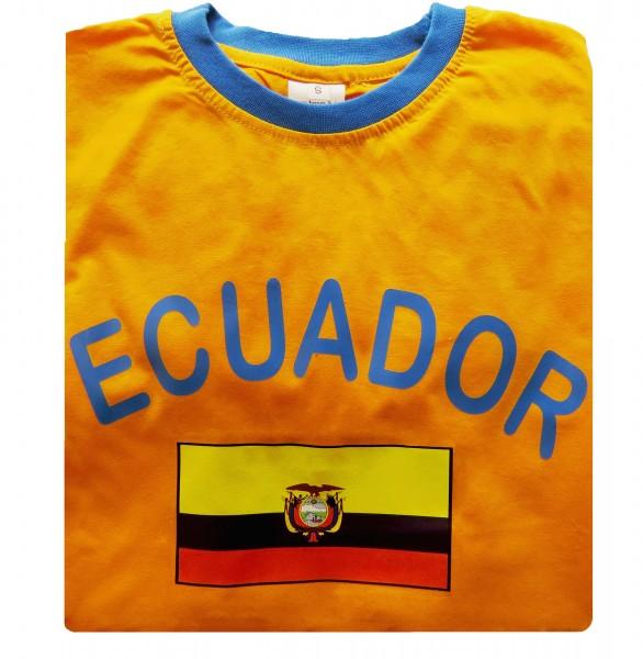 """Fan-Shirt """"Ecuador"""" Unisex Fußball WM EM Herren T-Shirt"""