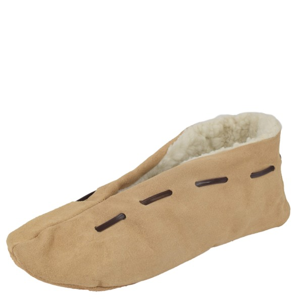 "Genuine Leather Indoor Slipper ""Classic"" Teddy Fur Lining"