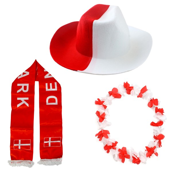 """Fan Package """"Denmark"""" Worldcup Football Soccer Cheer Party SET-1"""