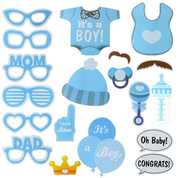 """SET Foto Sticks """"It's a boy"""" Junge Photo Booth Hochzeit Baby Party"""