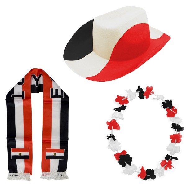 """Fan Package """"Egypt"""" Worldcup Football Soccer Cheer Party SET-1"""