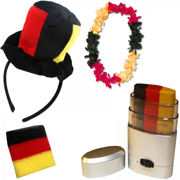 Fan Package Worldcup Football Soccer Cheer Chain Make Up Party SET-8