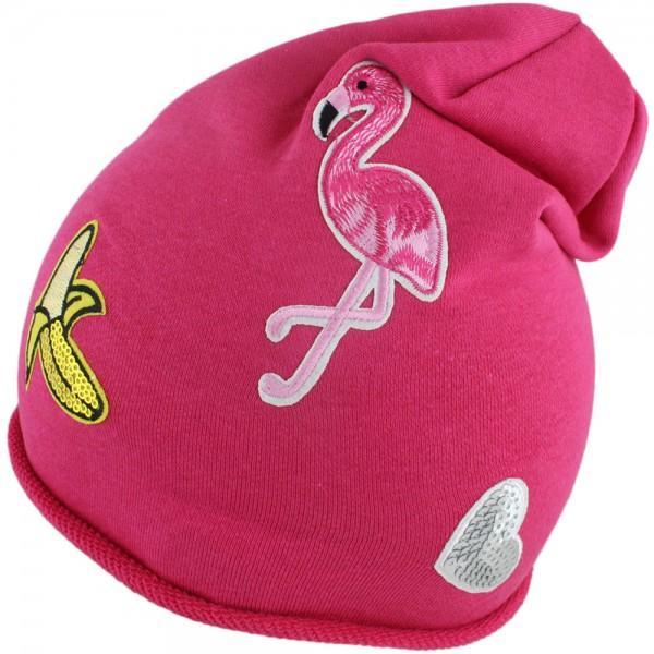 "Beanie Kind ""Banane"" Mütze Patches Flamingo Herz Aufnäher"