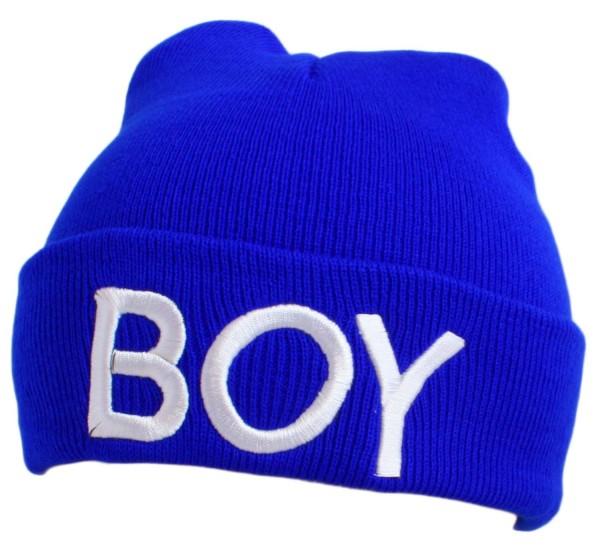 """Statement hat """"Boy"""" Beanie Knit Uni Unisex"""