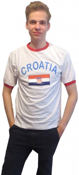 "Fan-Shirt ""Croatia"" Unisex Fußball WM EM Herren T-Shirt"