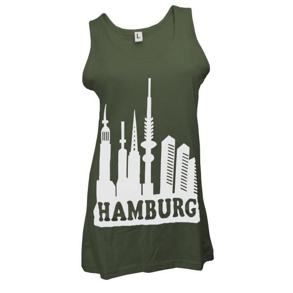 "Damen T-Shirt ""Skyline Hamburg"" Baumwolle"