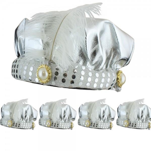 5er SET Orientalischer Hut Wunderlampe Orient Fasching Karneval Kostüm