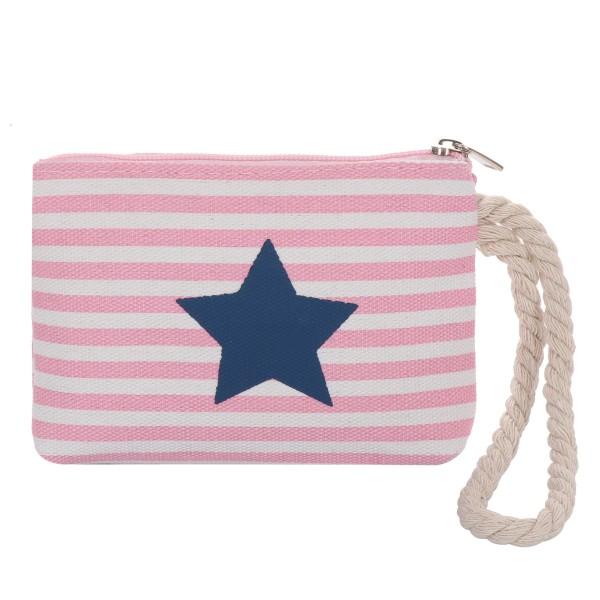 "Purse ""Star"" Mini Bag Maritime Stripe Cord"