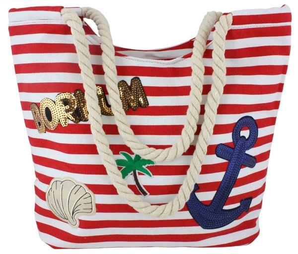 """Patch Beach bag """"Borkum"""" Patches Shoulder Bag Sticker"""