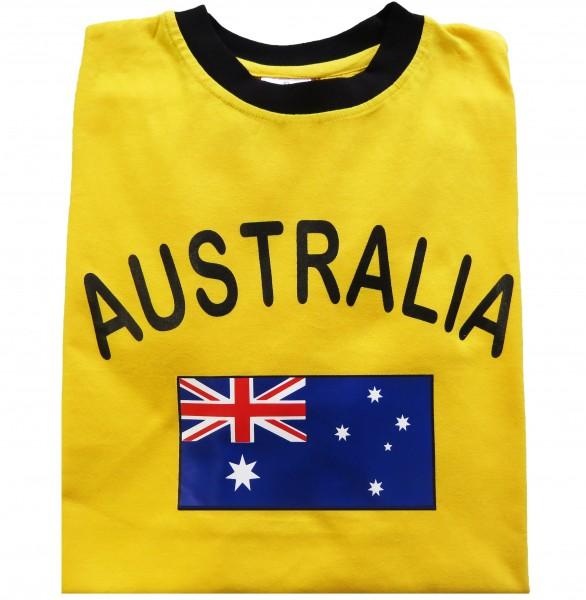 """Fan-Shirt """"Australia"""" Unisex Fußball WM EM Herren T-Shirt"""