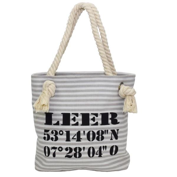 "XS Shopper ""Leer"" Shopper Tasche Koordinaten"