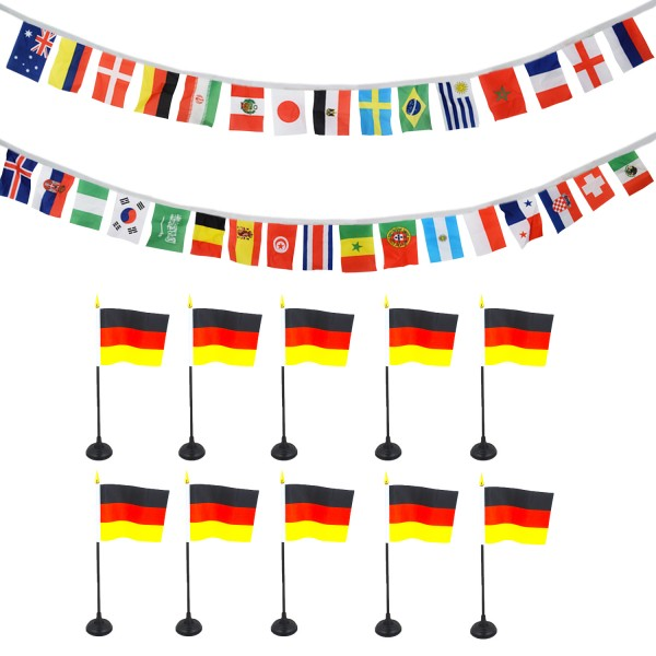 Fan Package Worldcup Football Soccer Mini Flags Garland Party SET-12