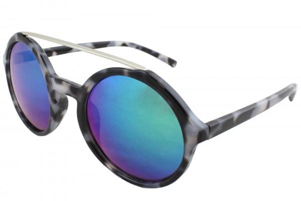 Sonnenbrille Verspiegelt Leo Muster Sommer Damen