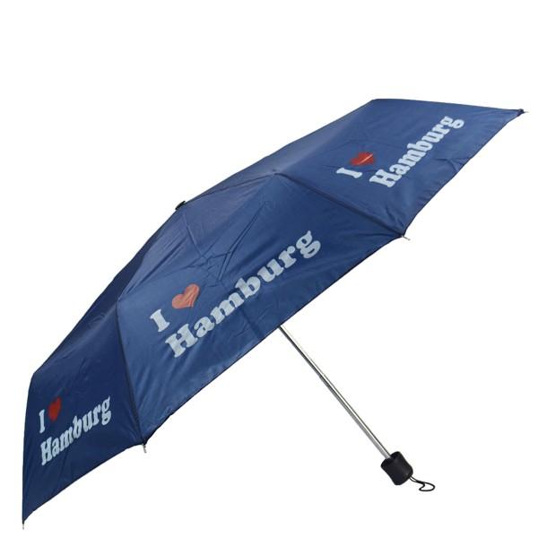 "Pocket Umbrella ""I love Hamburg"" Rain Protection"