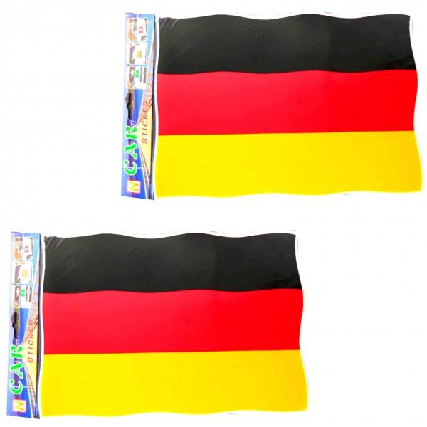 "2 Pieces ""Car-Sticker"" SET Worldcup Fan Football"