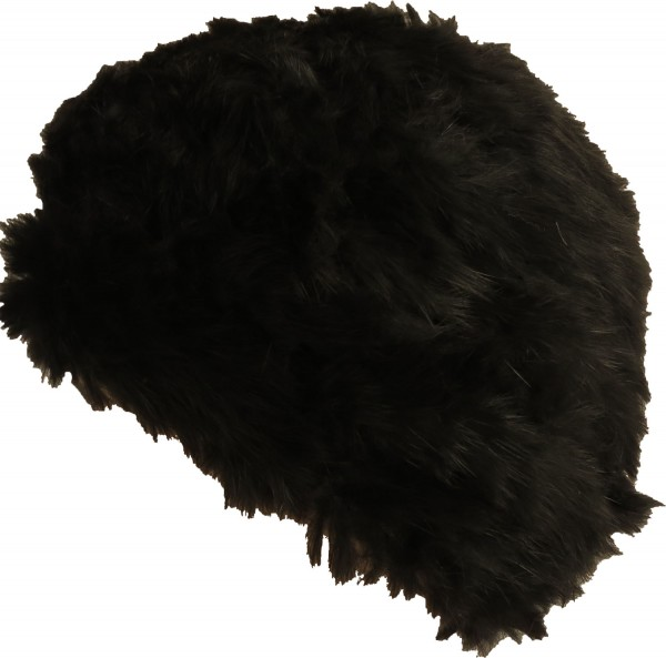 Beret hat Winter angora Real Fur Round