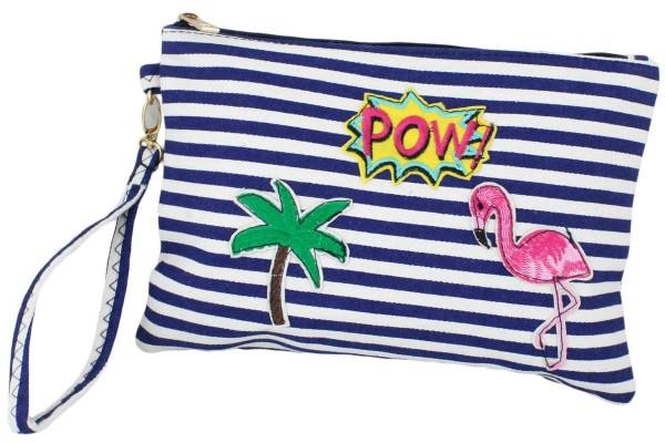 "Clutch ""Flamingo"" Beautybag Make-Up Bag"