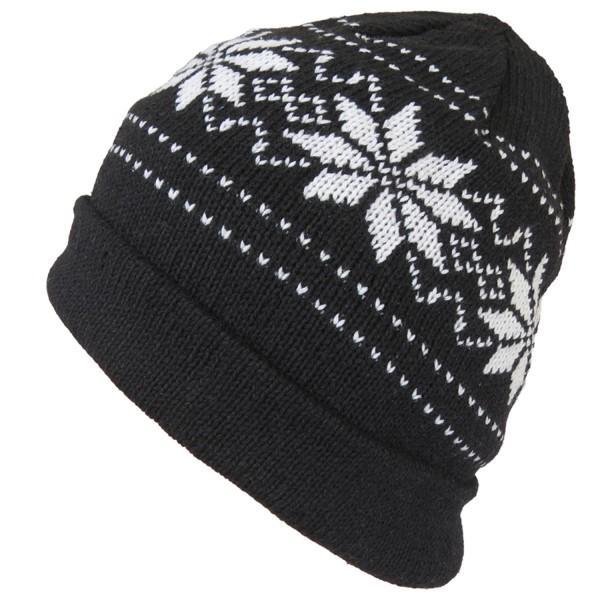 """Knitted hat """"Flower"""" Wool Winter Hat Norwegian"""