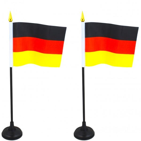 2er SET Mini Fahne Flagge Länder Fan WM Fußball inkl. Halter