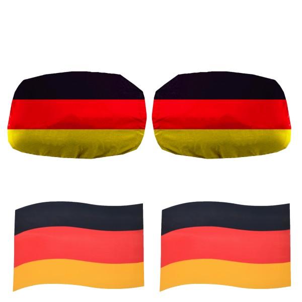 "Fan-Package ""Car"" Worldcup Countries Football Flags Magnet Car Mirror FAN-SET-17"