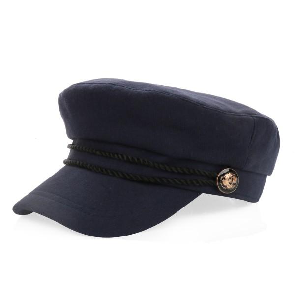 Schiffermütze mit Kordel Damen Hut Cap Baumwolle Maritim