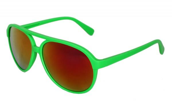 Sonnenbrille Neon Knallig Verspiegelt Fun Brille