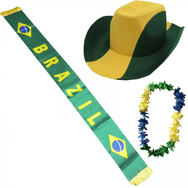 "Fan Package ""Brasil"" Worldcup Football Soccer Cheer Party SET-1"