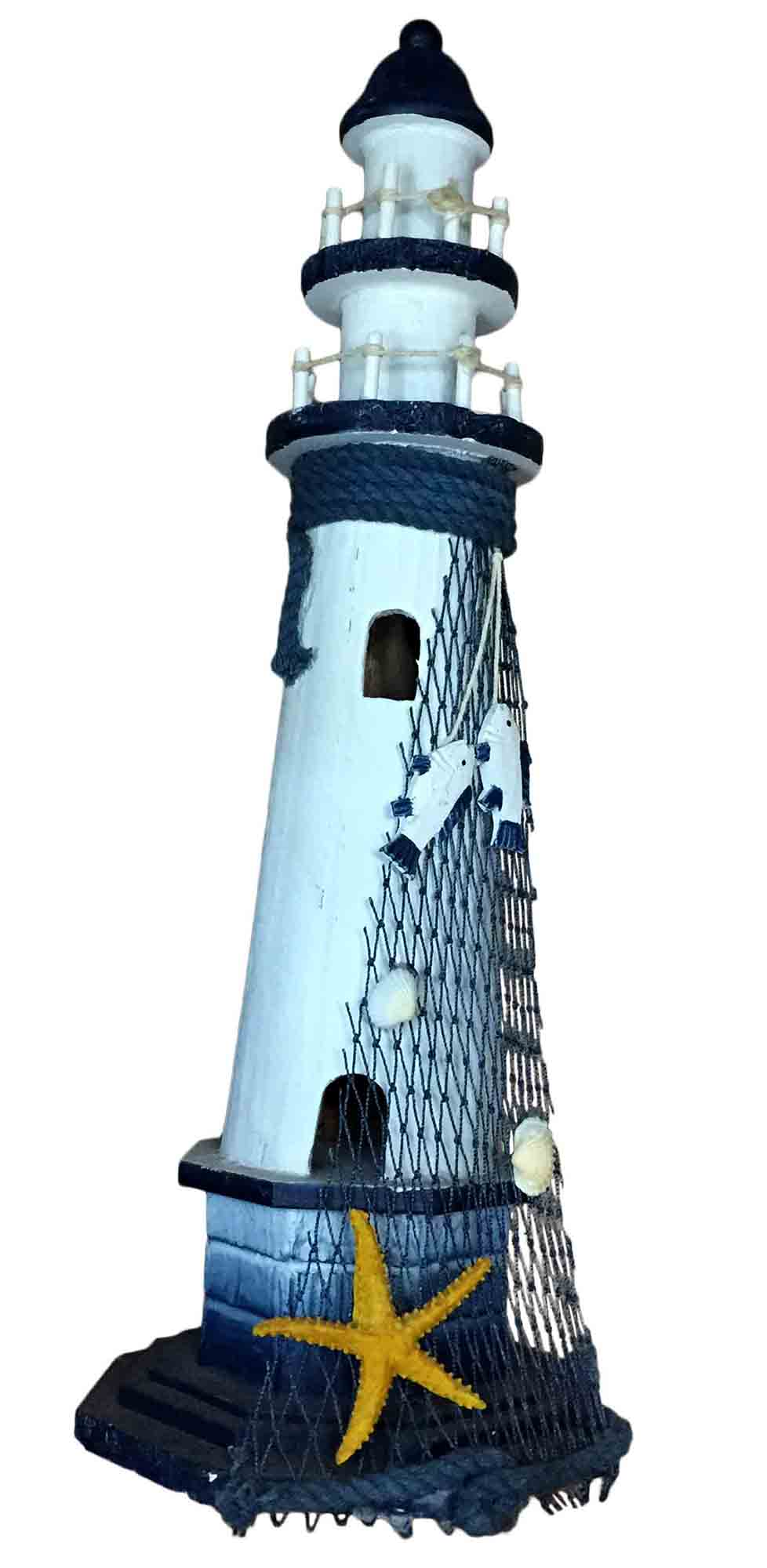 Leuchtturm m dekoration maritim shabby chic landhausstil wohndeko deko sonia originelli - Dekoration maritim ...