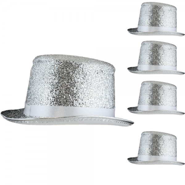 5 Pieces Glitter Hat New Years Eve Costume Carneval Party