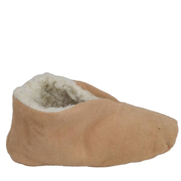 "Kids Genuine Leather Indoor Slipper ""Basic"" Teddy Fur Lining"