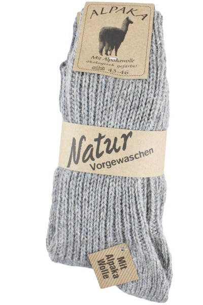 """2 Pairs Alpaca Socks """"Medium"""" Winter Sheep Wool"""