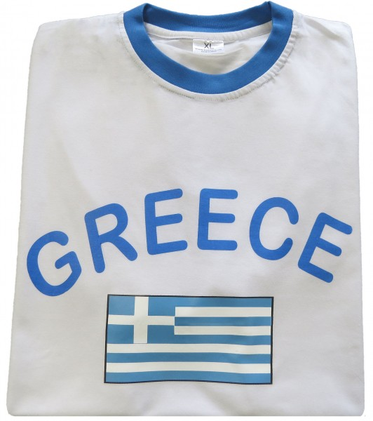 "Fan-Shirt ""Greece"" Unisex Football Worldcup T-Shirt Men"
