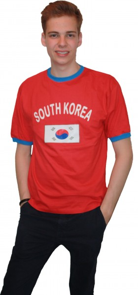 "Fan-Shirt ""South Korea"" Unisex Fußball WM EM Herren T-Shirt"