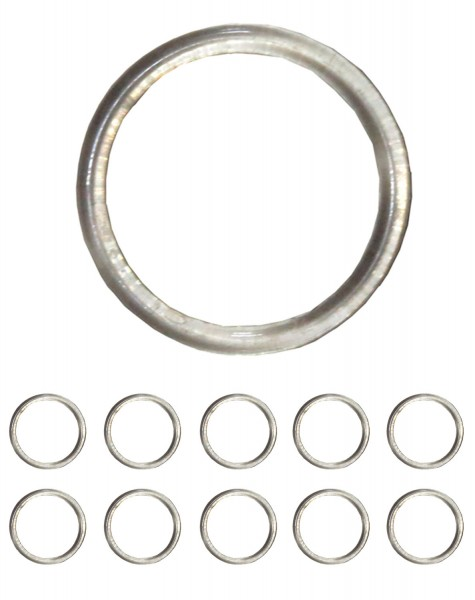 10er SET Schalhalter Transparent Ring Kunststoff