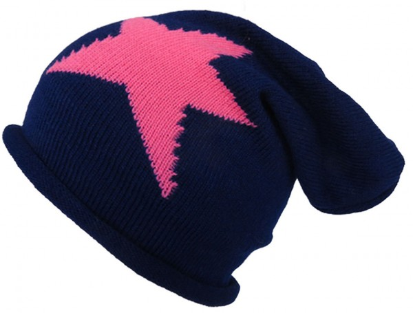 "Knitted beanie ""Star"" Beanie Winter Unisex"