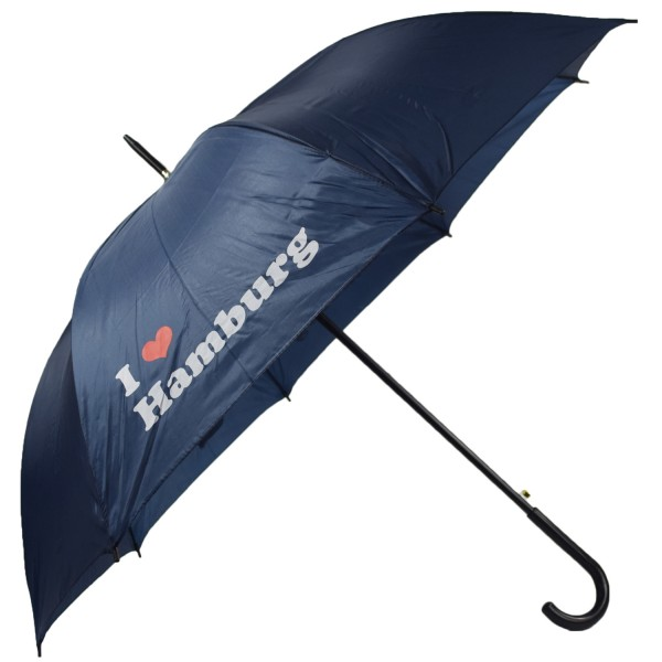 "Walking-stick umbrella ""I Love Hamburg"" Rain Protection"