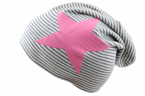 "Beanie Slouch ""Maritime Star"" Baby Stripes"