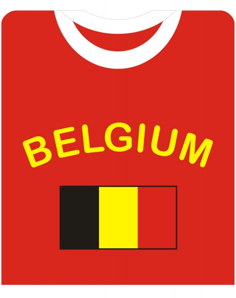"Fan-Shirt ""Belgium"" Unisex Football Worldcup T-Shirt Men"