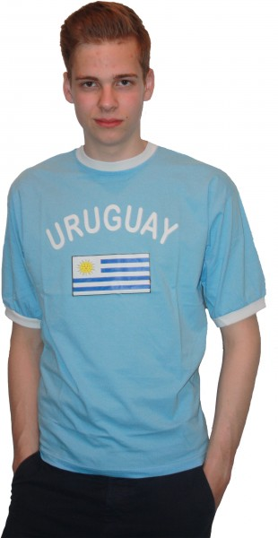 "Fan-Shirt ""Uruguay"" Unisex Football Worldcup T-Shirt Men"