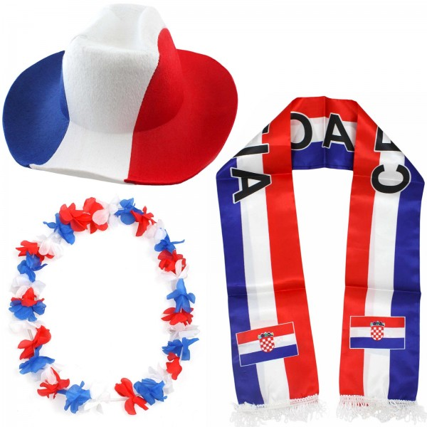 "Fan Package ""Croatia"" Worldcup Football Soccer Cheer Party SET-1"