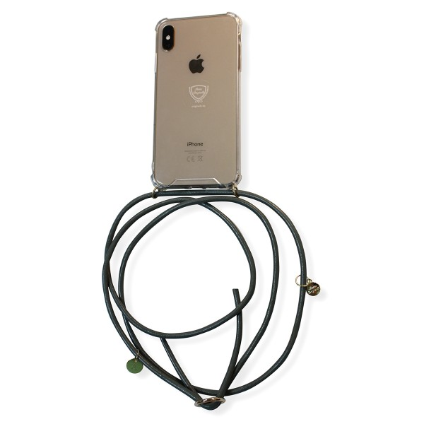 Mobile necklace leather grey for Huawei with charms Necklace Smartphone Chain Cloak