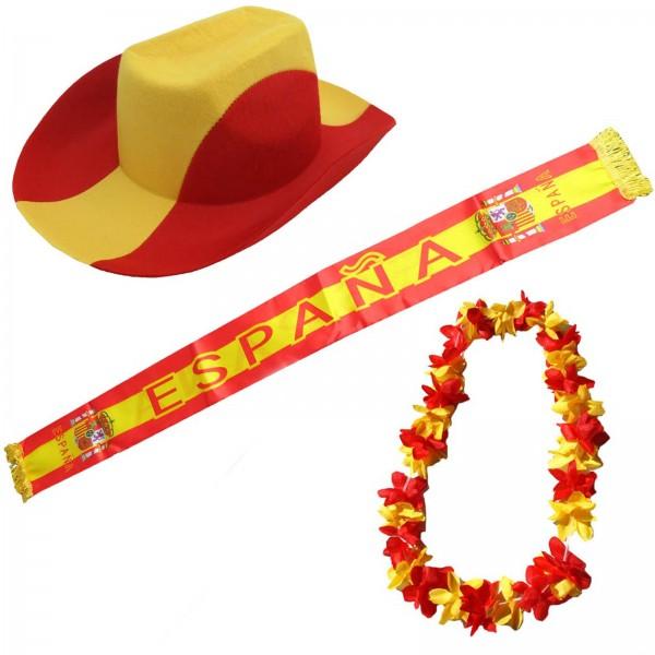 """Fan-Paket-1 """"Spanien"""" WM EM Fußball Fan Anfeuern Party"""