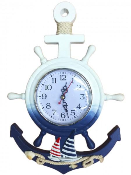 Sailor's Clock Wheel Coast Decoration Anchor