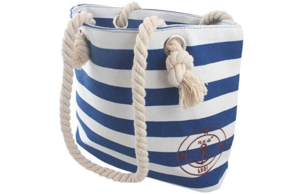 """XS Beach Bag """"Luna"""" Stripes Shopping Bag"""