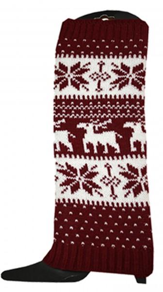 """1 Pair Cuff Legwarmer """"Norwegian"""" Design Warm Acrylic Wool"""