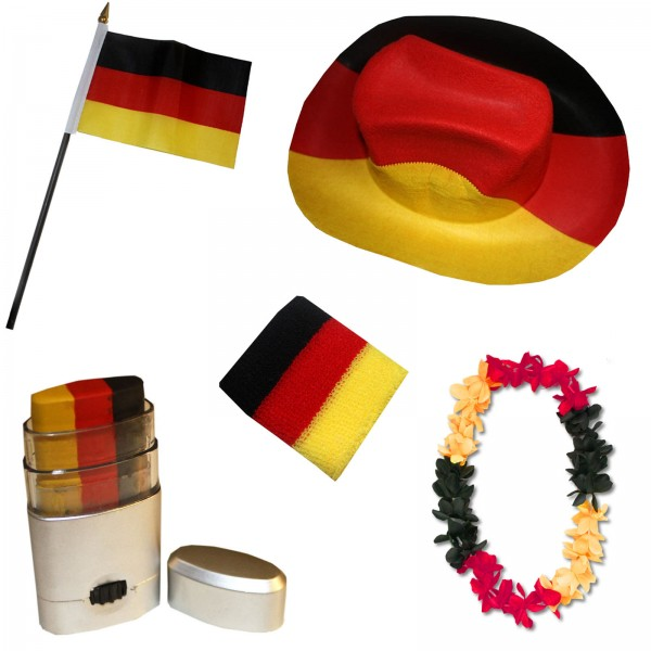 Fan Package Worldcup Countries Football Make-Up Hat Chain Sweatband Flag SET-2