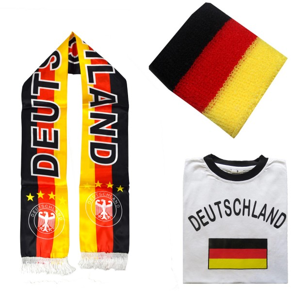 "Fan Package ""Germany"" Worldcup Football Scarf Shirt Sweatband SET-7"